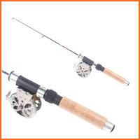 New Arrival 0.5M  Mini Telescopic Ice Fishing Rod Carbon Pole Winter Fishing Tackle Tool Ultra-light 40g