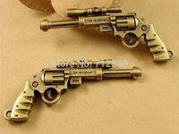 10Pcs Gun Charms Pendant Antiuqe Bronze Tone DIY Jewelry Making