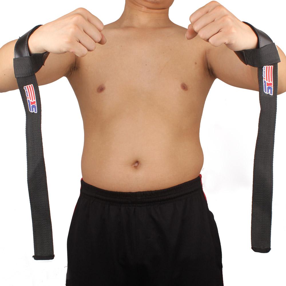 2pcs Sport Barbell Hand Wrist Brace Bar Support Gym Strap Belt Weight Lifting Wrap Body Building Grip(China (Mainland))