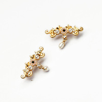 Fashion fashion accessories exquisite decorative pattern royal pearl flower women's brooch