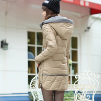 Wadded jacket 2014 women's slim autumn and winter thickening medium-long cotton-padded jacket outerwear