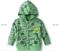 ew 2014 boys Teenage Mutant Ninja Turtles hoodies for kids baby winter warm cartoon clothing zipper hooded fleece warm jacket