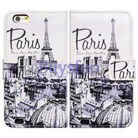 Bcov Retro Paris Card Slot Wallet Leather Cover Case for iPhone 6 Plus 100015661