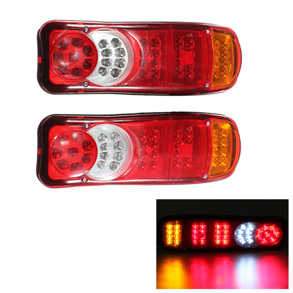 12V 40-LED Trailer Truck Ute Bus Van Stop Rear Tail Indicator Light Reverse Lamp Waterproof Free shipping(China (Mainland))