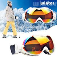 New 2014 Winter Super Double Spherical TPU Anti-fog UV400 Polarized Ski Goggles Unisex Mens Womens Snowboarding Glasses