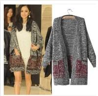 womens brand women knitwear 2015 Fall Winter Fashion woman cardigan Women Big Casual Knitting Sweaters Warm Women Fashion W00475