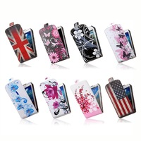 """Exclusive Design Up Down Flip PU Leather Soft Protective Phone Shell for Samsung GALAXY Core Duos GT-I8262 Case Cover 4.3"""" i8262"""