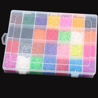 28 Girds Multicolor Hama/Perler Beads With Box 11000pcs 3D Plastic DIY Jigsaw Puzzle Kid Educational Toys HO673176
