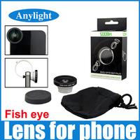 Fisheye Lens 180 degrees Clip  Fish eye Camera For iphone 4S 5 5S 6 samsung galaxy S3 S4 S5 Circular shape phone camera WPA11