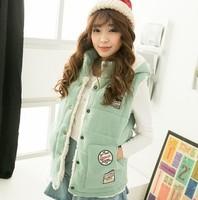 Hot new women's fashion thick velvet vest female lamb hot autumn and winter fashion vest Free Post