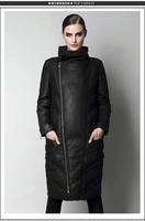 Ailanthuses genuine leather down coat female stand collar slim sheepskin down coat medium-long female