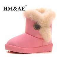 Hot selling New 2014 Fashion Children's Boots Winter Fur Children shoes Girl's Snow Boot Christmas Gift for Kids Free Shipping