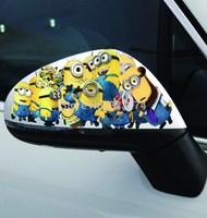 Free shipping a pair Endoscopic graffiti button tank car stickers Automotive exteriors