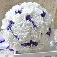 Free Shipping Wedding Bouquets Flower Bouquet Holder Handle Wedding Accessories Bridal Bouquets Bridesmaid Flower 30-32CM BQ309