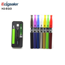 1pcs/lot Ecigsaler High quality 2.0ml H2 atomizer with 650/900/1100mah eGo battery H2 eGo e-Cigarette Aluminum box packaging Kit