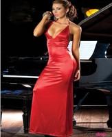 New Style ML17531  Free Shipping Sexy Long Dress Backless V Neck Red Dress Women Charming Elegant Long Dress
