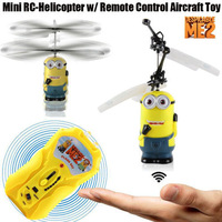 Despicable ME 2 Two Eye Minion yellow Flying Toy w/ Infrared Induction & Remote Control Free shipping