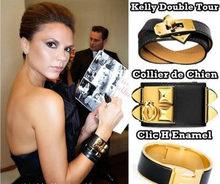 Women And Men Punk Rock Bracelet  / Harmes Leather Bracelet For Women