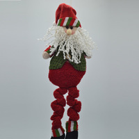 5piece/lot 42cm 2014 New Arrival Christmas Toy Christmas Indoor Decoration Long Leg Santa Claus toy tree decoration 1135