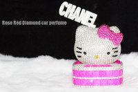 Hello KITTY diamond rhinestone kt cat auto supplies car decoration crystal decoration car perfume seat