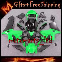 * INJ Fairings For HONDA CBR600RR 2003 2004 Fairing green black CBR 600RR 600 RR CBR600RR CBR600 2003 2004 03 04 Set 50 W11- INJ