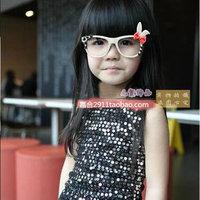 Free Shipping Child glasses frame lens rabbit ear cartoon eyeglasses  Free Shipping
