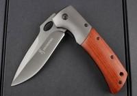 NEW Browning DA62 Fodling knife Wood Handle pocket  knives Camping tool survial tools Drop shipping