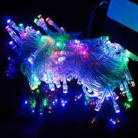 10M 100 LED Colorful Lights Decorative Christmas Party Festival Twinkle String Lamp Bulb 220V EU