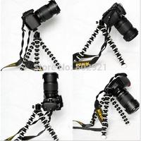 1pcs black Mini Flexible Tripod Bubble Octopus Stand Gorilla Pod Gopro Camera