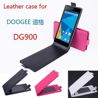 Free shipping For Doogee DG900 Slim Magnetic Closure Up and Down Leather Case