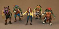 5pcs a Set Teenage Mutant Ninja Turtles Movie April O'Neil Basi  loose Figure