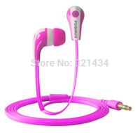 3.5mm Stereo Mobile music headset headphone earphone for Smart phone iphone 4 4S 5 5S 5C 6 Samsung HTC iPod MP3 MP4 No Mic579PK