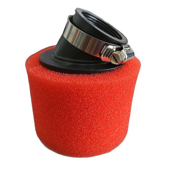 110cc/125cc Pit Dirt Bike New Air Filter 38mm Angled Double Foam Performance RED(China (Mainland))