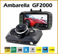 "Original Car dvr Ambarella A5 GF2000 Full HD Recorder 1080P 30fps 2.7""LCD 170 Wide Angle with G-Sensor"