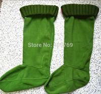 Newest women men socks Long-haired  Striped wool socks winter rain boots matching woman man socks items only socks 35-44