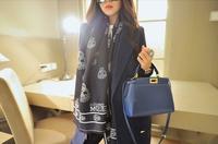 Fashion Cashmere scarf Winter Brand Skull Scarves Scarfs Pashmina Women Designer blanket Scarf
