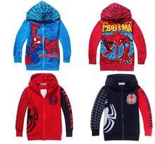 CS048 Free Shipping 2014 New Spring Autumn Boys Coat Boys Spiderman Children's Hoodie Jackets Kids Cartoon Outerwear Retail(China (Mainland))