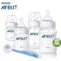 100% Brand Original AVENT Baby Feeding/Milk/Nursing Bottle/Mamadeira 4oz/9oz newborn Starter Set