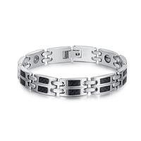 Health  Men bracelets bangles with carbon fiber stainless steel  cool  bracelets for men&women&unisex  jewelry BR-083