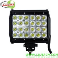 "72W 6.5"" inch LED Work Light Bar Cree12V 24V IP67 Flood Or Spot beam For Offroad Light Bars TRUCK BOAT TRAIN BUS"