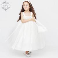 Wedding flower girl dress girls child hosts dress gauze princess dress girls ' dresses-South Korea