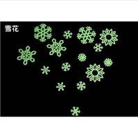 12pcs/pack Christmas snowflake DIY decorative luminous stickers