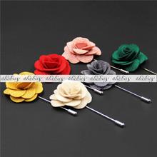 Miscela di seta fiori fatti a mano fiore all'occhiello bavero perno del bastone degli uomini accessori(China (Mainland))