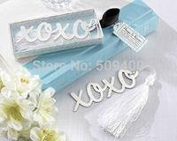 Hugs & Kisses X O Brushed Metal Bookmark Bridal Shower Wedding Favors
