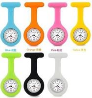 10PCS/Lot New Fashion Silicone Nurse Watch Pocket Quartz Watch Doctor Men Women Jelly Hanging Pocket Watch Clock Drop Shipping