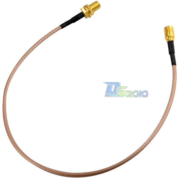 New RF Coax WiFi Pigtail Cable RG316 SMA Female Nut Bulkhead to SMB Female 30cm High Quality(China (Mainland))