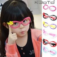 5Pcs/Lot Child glasses frame lens small flower eyeglasses frame male female child baby cartoon glasses Free shipping