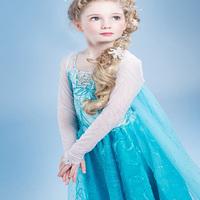 Hot Frozen Elsa dress Girl Princess Dress Summer long sleeve diamond party dresses Cosplay Costume kids children clothing A164