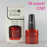 Free Shipping 2014 New arrival Fashion colors CND Shellac Soak off UV LED Nail Gel Polish 6pcs/lot Total 79colors!