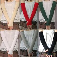 Women's Fashion Cotton UV Protection Arm Warmer Long Fingerless Gloves Sleeves 1QZQ(China (Mainland))